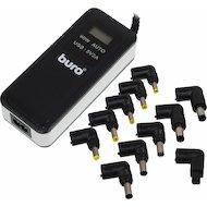 Сетевой адаптер для ноутбука BURO BUM-0065A90 автоматический 90W 15V-20V 11-connectors 1xUSB 2.1A от бытовой электросети LСD инди
