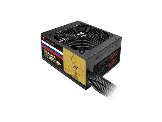 Блок питания Thermaltake ATX 1000W VOLGA 1000W 80+ gold (24+8+4+4pin) APFC 135mm fan 12xSATA Cab Manag RTL