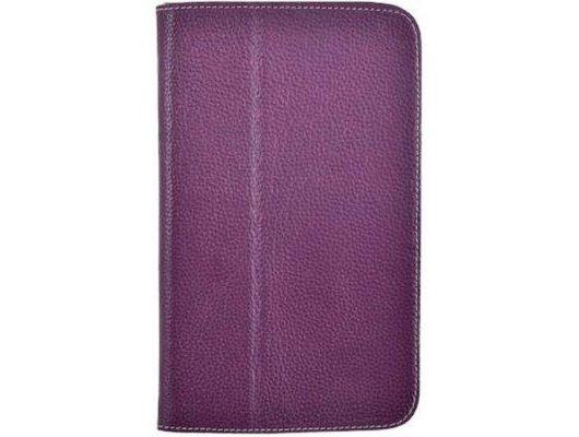 """Чехол для планшетного ПК Jet.A (SC8-26) для Samsung GT3 8"""" из натуральной кожи фиолетовый/серый интерьер"""