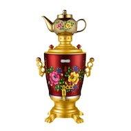 Чайник электрический  ЭЛИС ЭЛ-4026 красный/золотой
