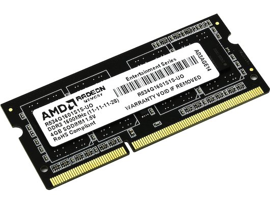 Оперативная память AMD R534G1601S1S-UO OEM PC3-12800 DDR3 4Gb 1600MHz CL11 SO-DIMM