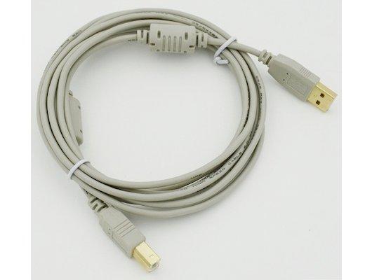 USB Кабель Кабель USB 2.0 PRO A(m) - B(m) феррит. фильт., экран, покрытие Gold flash 3м (58515)