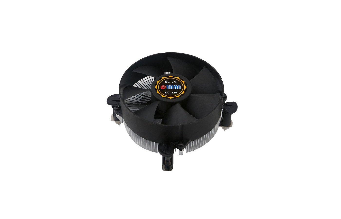 Охлаждение Titan DC-156V925X/RPW Soc-1150/1155/1156 4pin 12-36dB Al 95W 267g клипсы низкопрофильный