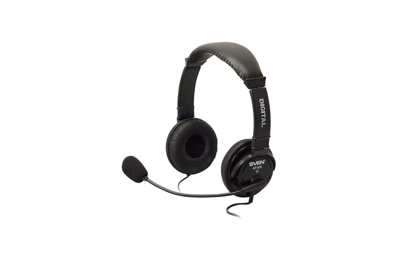 Наушники с микрофоном проводные SVEN AP-830