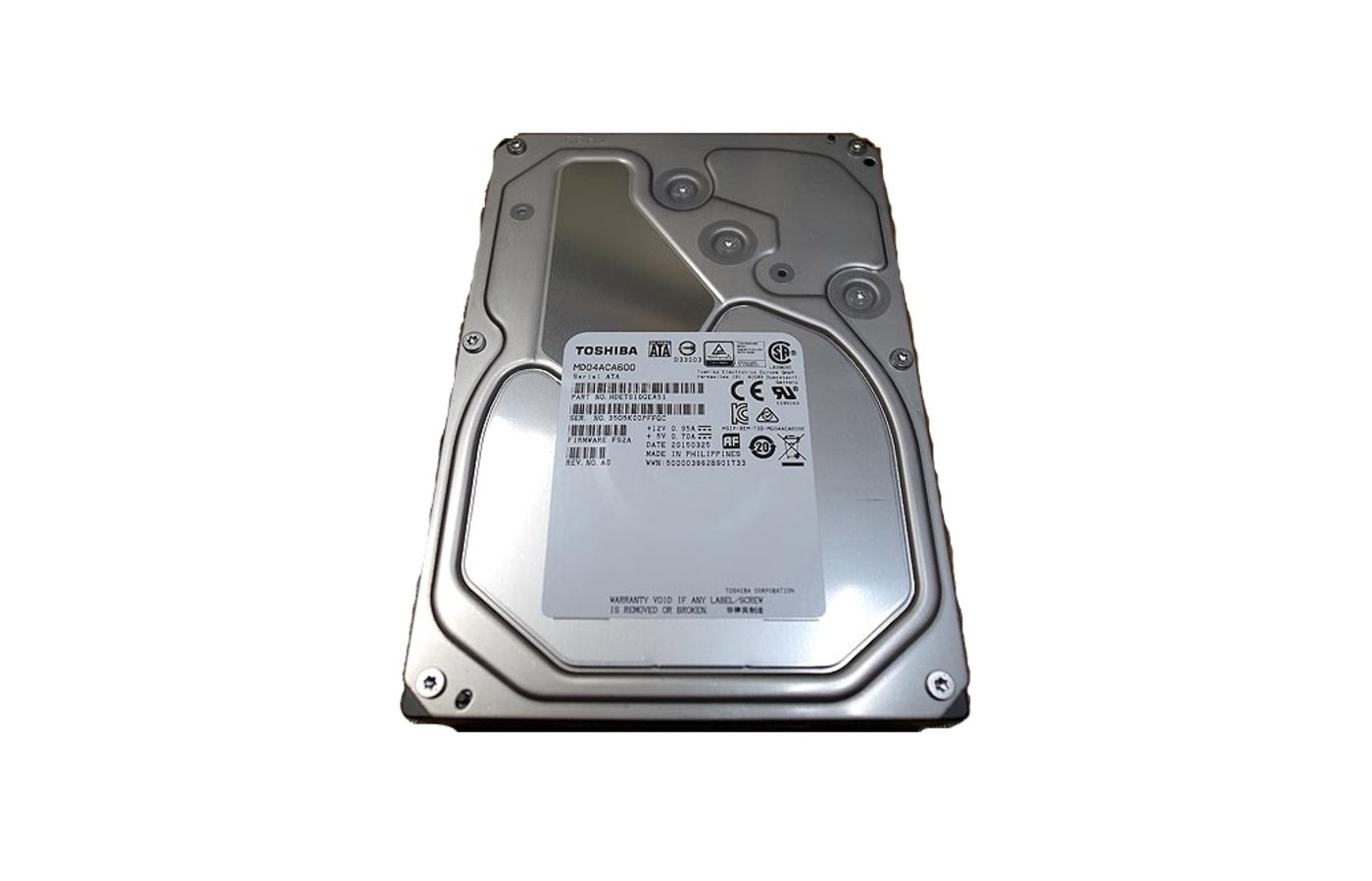 Жесткий диск Toshiba SATA3 6Tb MD04ACA600 7200 rpm 128Mb