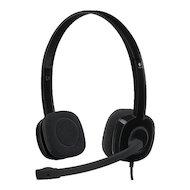Фото Наушники с микрофоном проводные Logitech Headset H151 Stereo Black (981-000589)