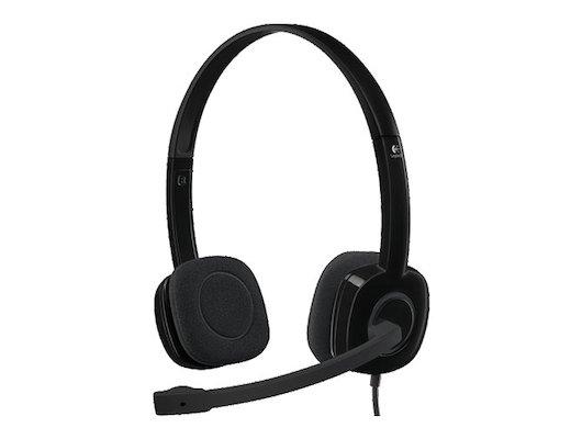 Наушники с микрофоном проводные Logitech Headset H151 Stereo Black (981-000589)