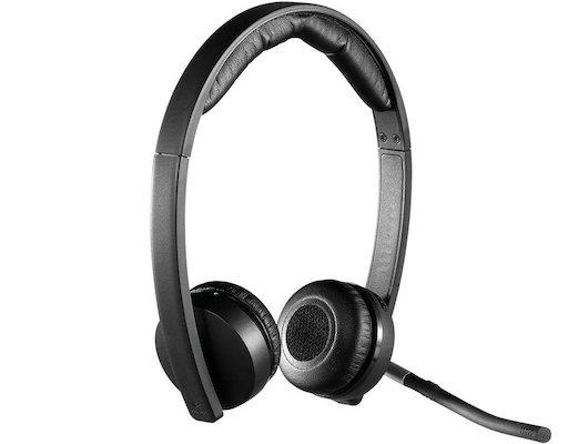 Наушники с микрофоном беспроводные Logitech Headset Wireless H820E Dual (981-000517)