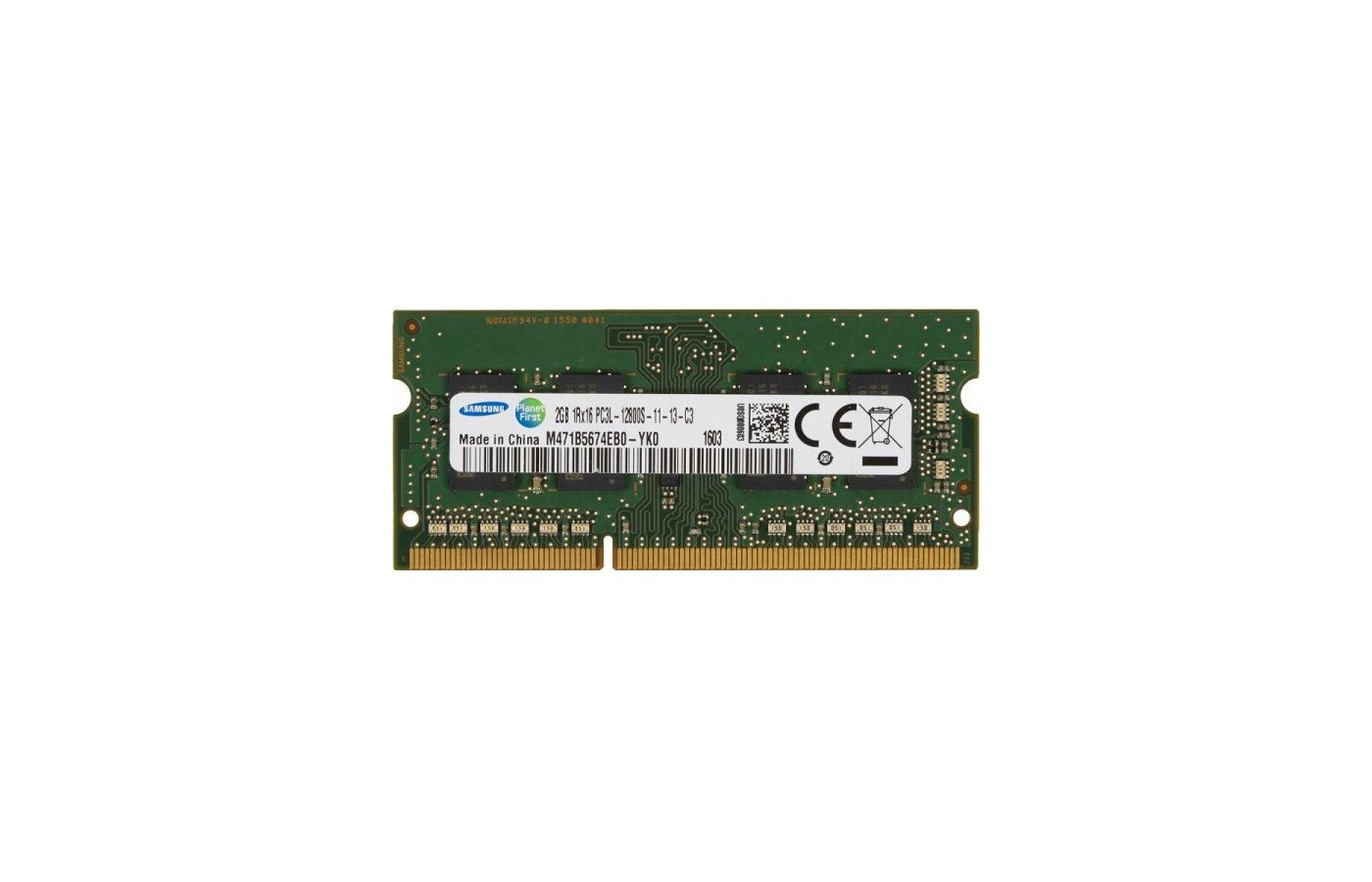Оперативная память Samsung M471B5674EB0-YK0 OEM PC3-12800 CL11 DDR3 2Gb 1600MHz SO-DIMM