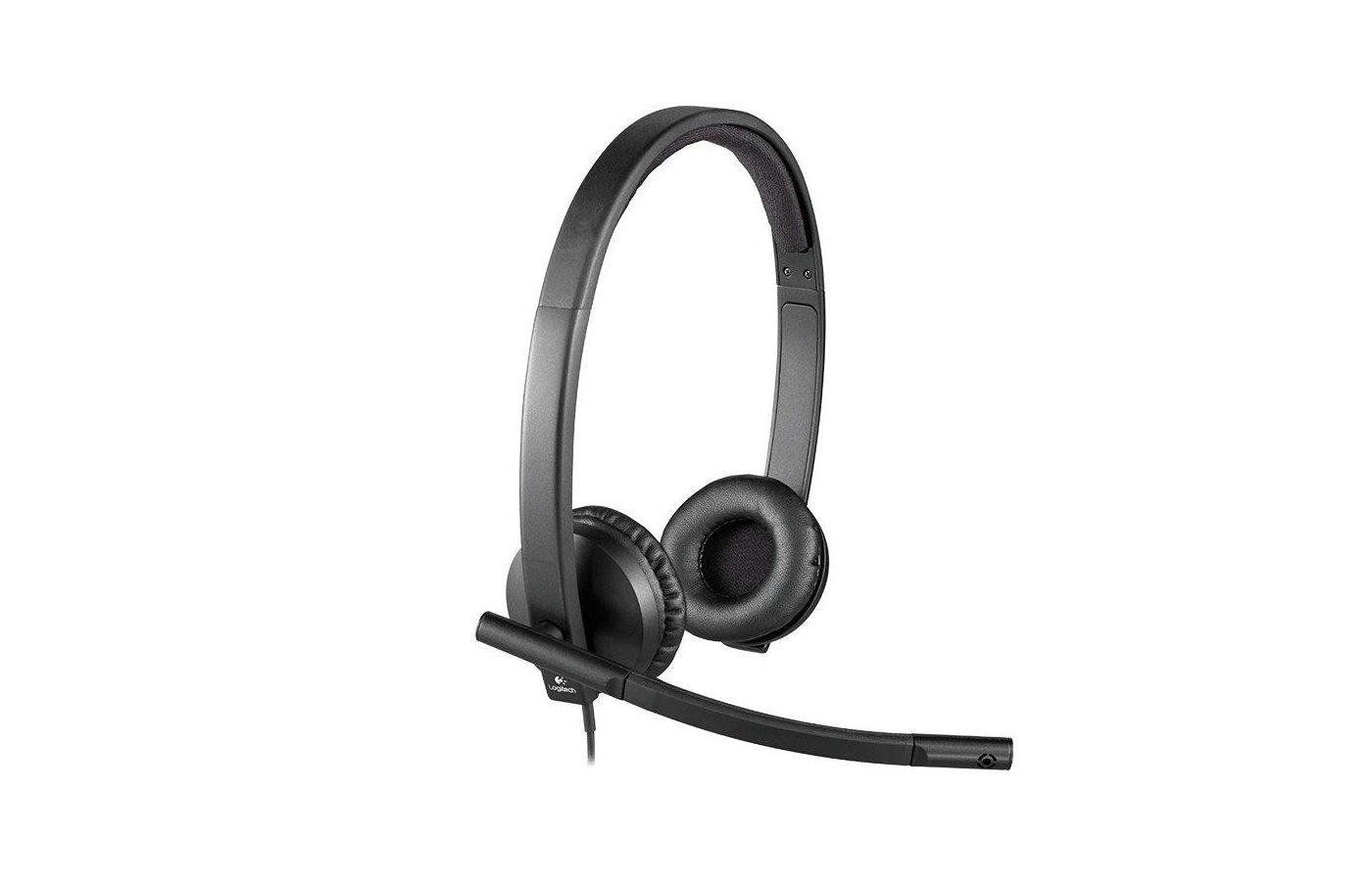 Наушники с микрофоном проводные Logitech H570E USB Stereo (981-000575)