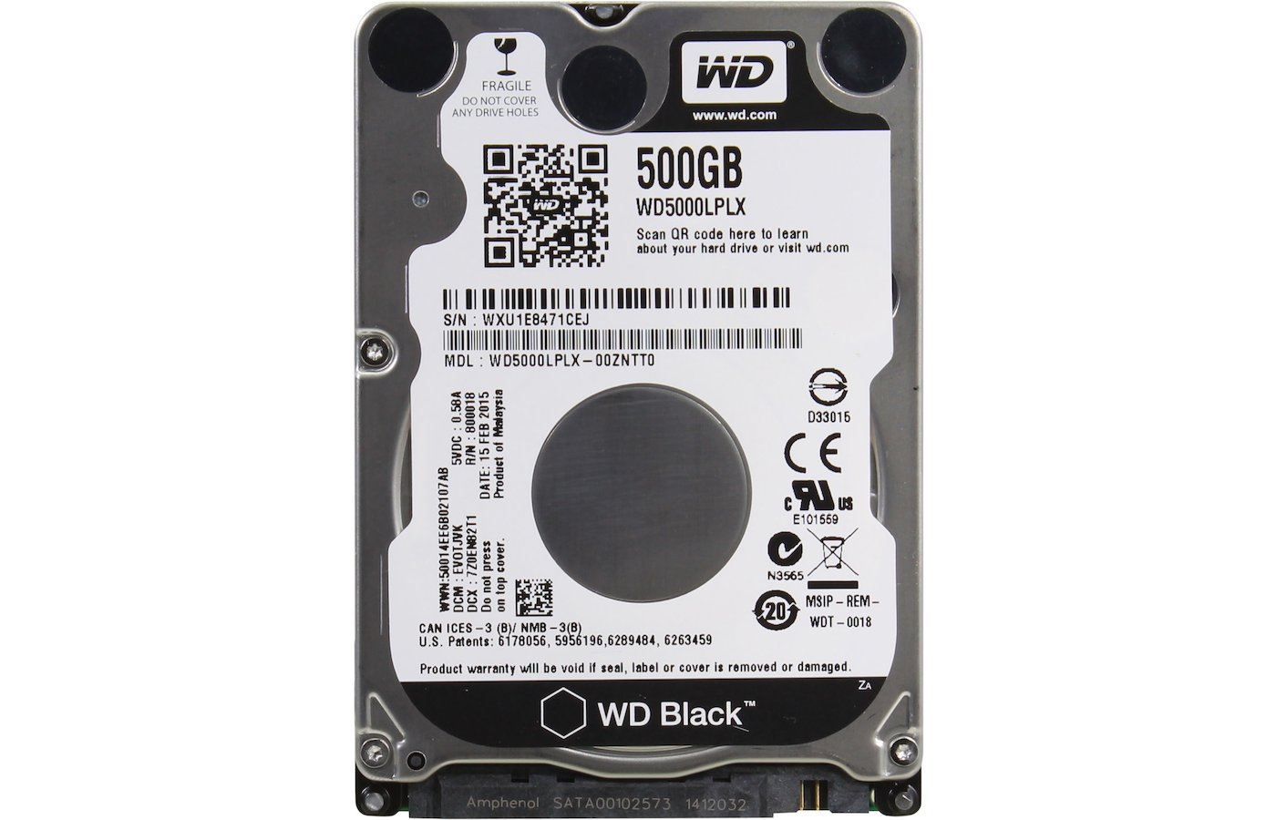 Жесткий диск WD Original SATA-III 500Gb WD5000LPLX Black (7200rpm) 32Mb 2.5""