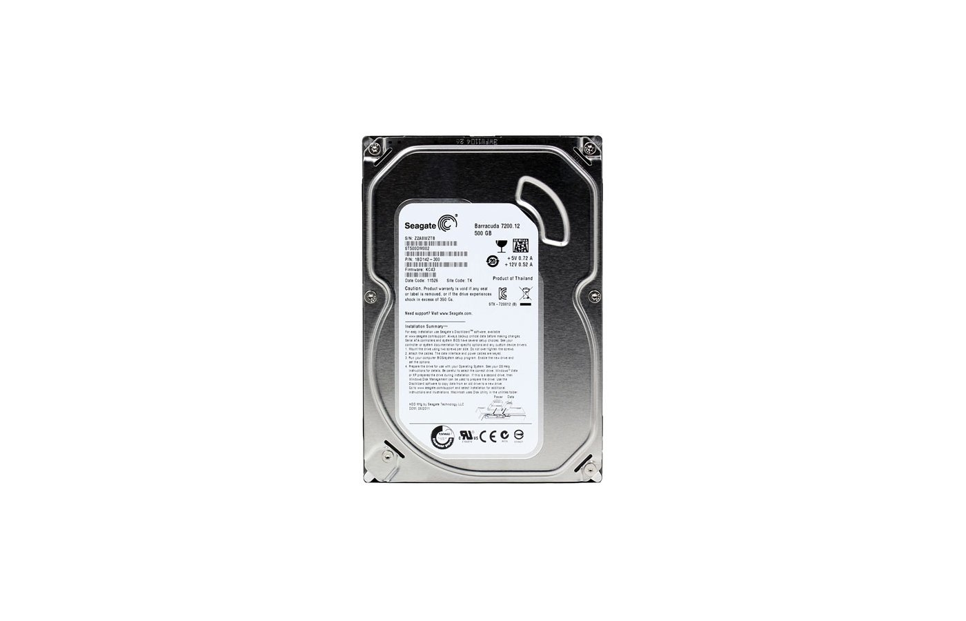 Жесткий диск Seagate SATA-III 500Gb ST500DM002 Desktop (7200rpm) 16Mb 3.5