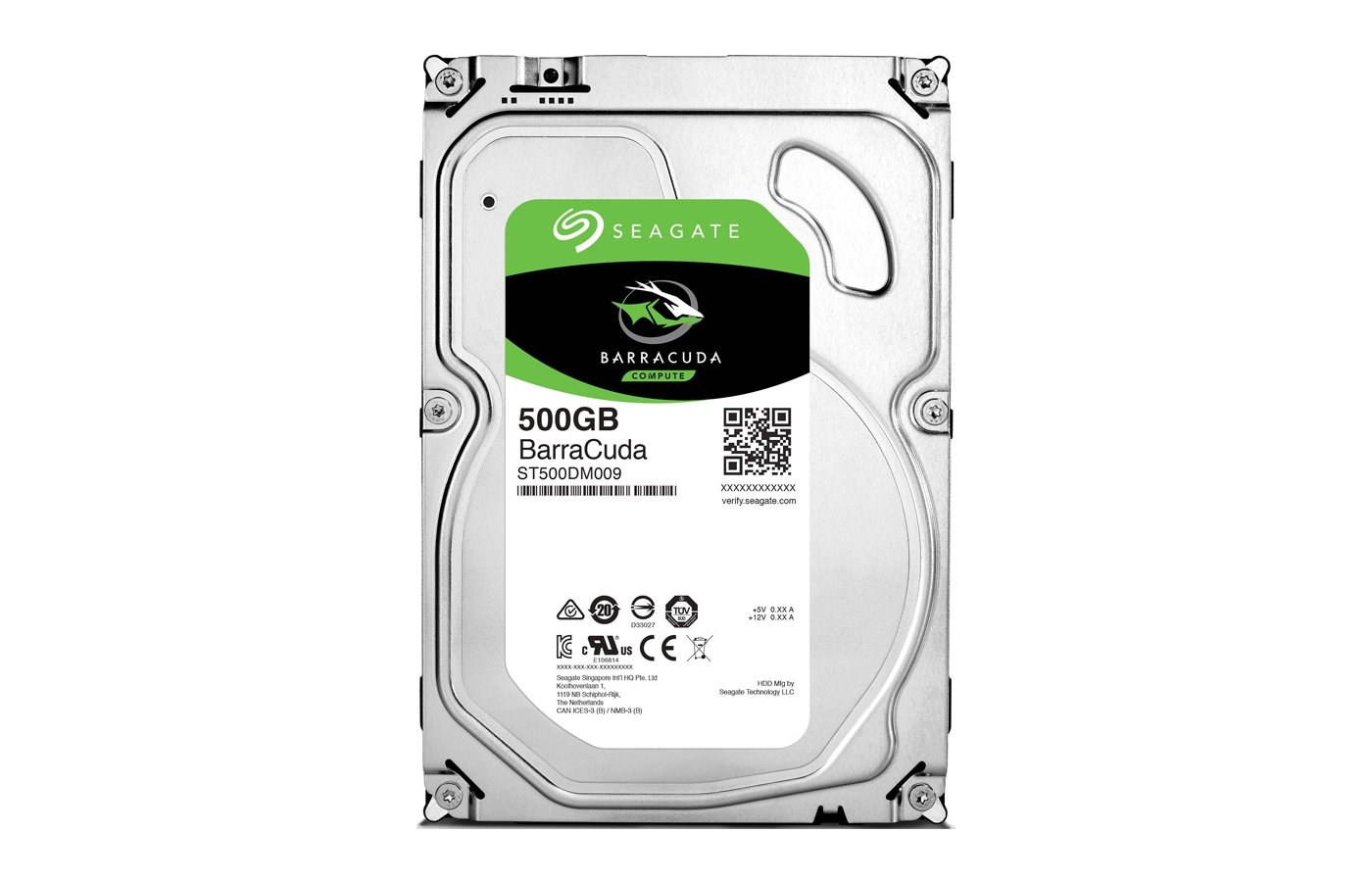 Жесткий диск Seagate SATA-III 500Gb ST500DM009 Barracuda (7200rpm) 32Mb 3.5""