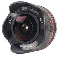 Объектив SAMYANG MF 7.5mm T3.8 Fish-eye VDSLR micro 4/3 Black