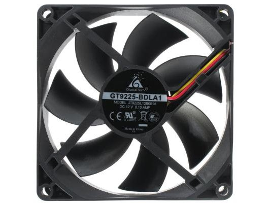 Охлаждение Glacialtech GT-9225 Ballbearing 90x90x25 3 pin + 4 pin (molex) 24dB 90g BULK для корпуса