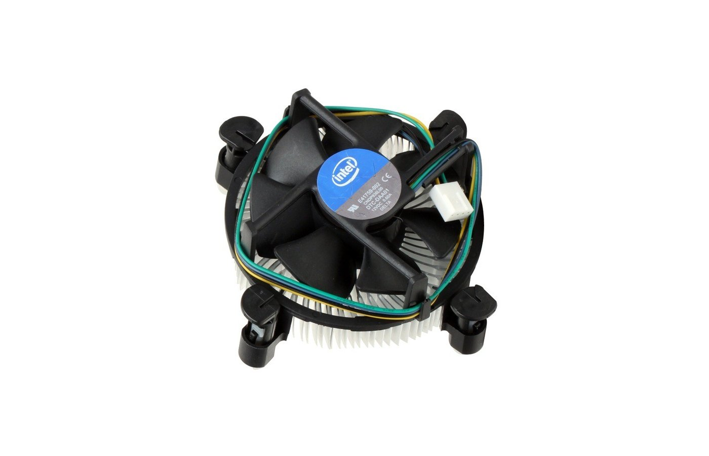 Охлаждение Intel Original Copper Base Soc-1150/1155/1156/ 4pin 18-38dB Al+Cu 105W 240g клипсы OEM