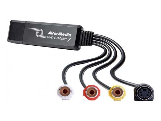 ТВ-тюнер Avermedia DVD EZMaker 7 Карта видеозахвата внешний USB/S-video x1