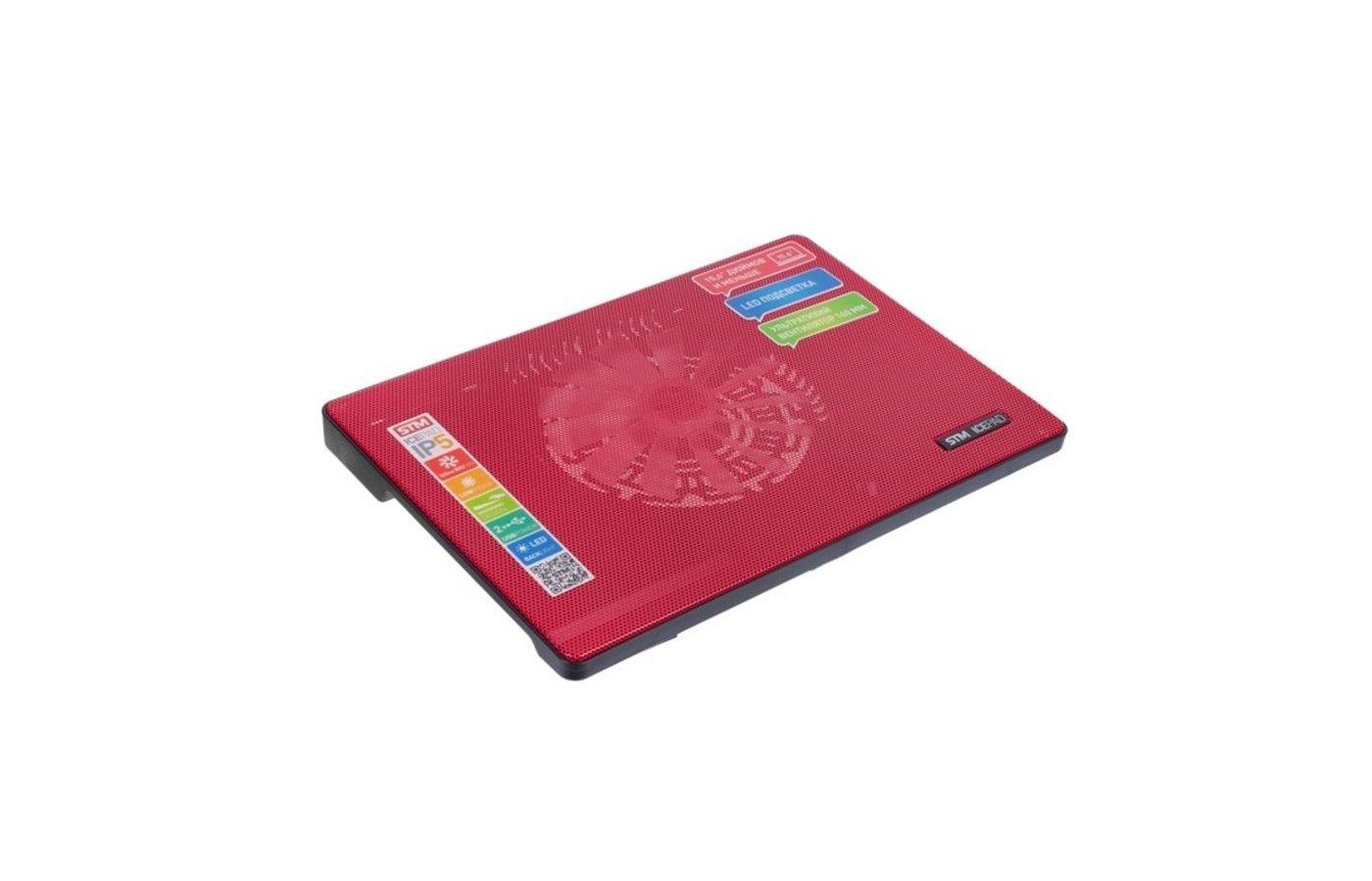Подставка для ноутбука STM Laptop Cooling IP5 Red