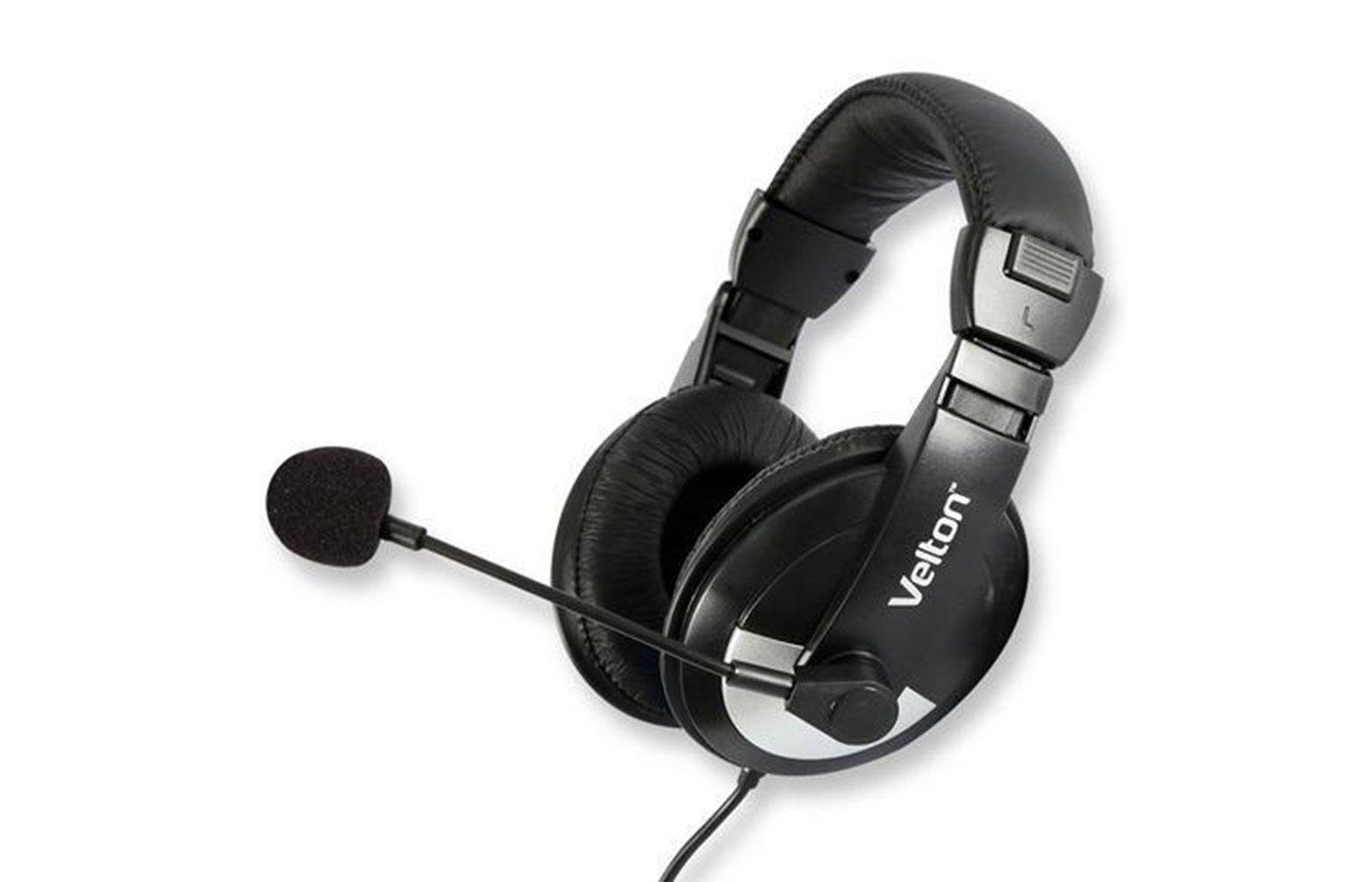 Наушники с микрофоном проводные Velton VLT-H750