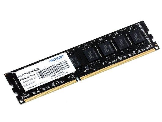 Оперативная память DDRIII 4096Mb 1600MHz Patriot
