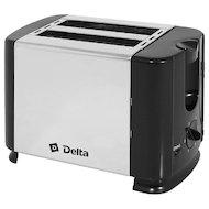 Тостер DELTA DL-61 черный/серебро