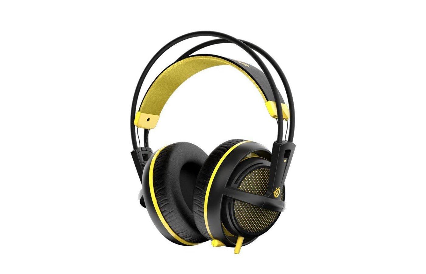 Игровые наушники проводные Steelseries Siberia 200 Proton Yellow желтый/черный (1.8м) мониторы (оголовье)