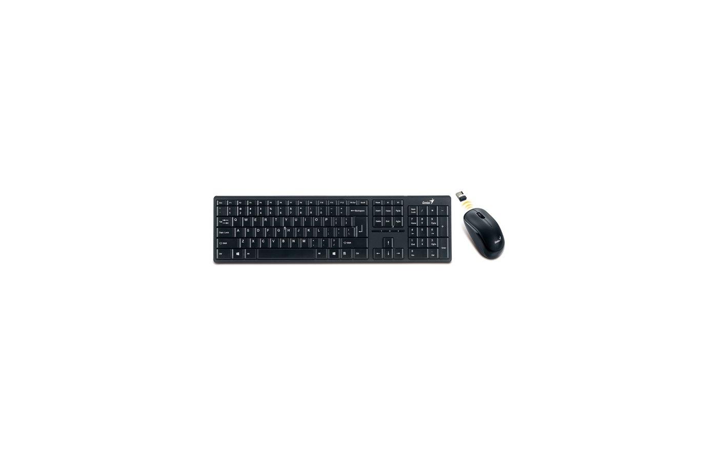 Клавиатура + мышь Genius SlimStar 8000ME черный