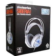 Фото Игровые наушники проводные Steelseries Siberia v2 Frost (51125 ) белый/голубой