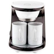 Кофеварка MAGNIT RMK-1993 черный/белый