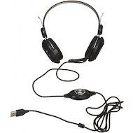 Фото Наушники с микрофоном проводные CANYON CNE-CHSU1B USB Black