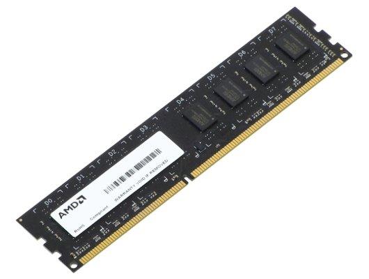Оперативная память AMD R534G1601U1S-UO/2S-UO OEM PC3-12800 DDR3 4Gb 1600MHz CL11