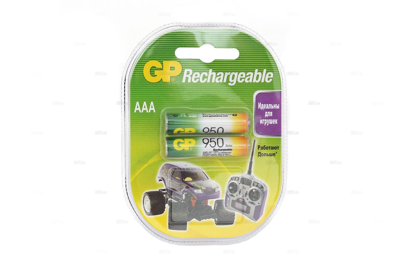 Аккумулятор GP AAA 950mAh Ni-Mh 2шт. (95AAAHC-2DECRC2)