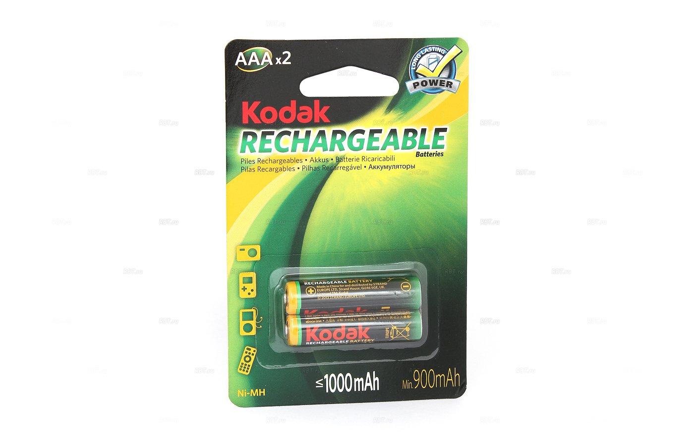 Аккумулятор Kodak AAA 1000mAh Ni-Mh 2шт. (HR03-2BL)