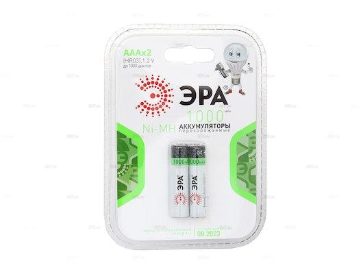 Аккумулятор ЭРА AAA 1000mAh Ni-Mh 2шт.