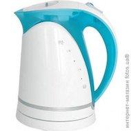 Чайник электрический  MYSTERY MEK-1616 white/aqua