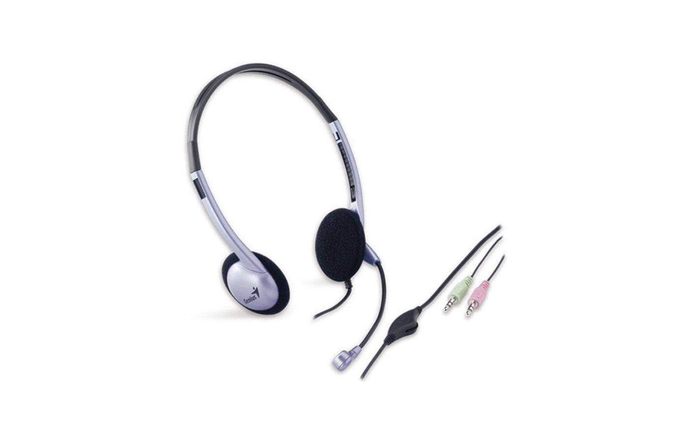 Наушники с микрофоном проводные Genius HS-02B