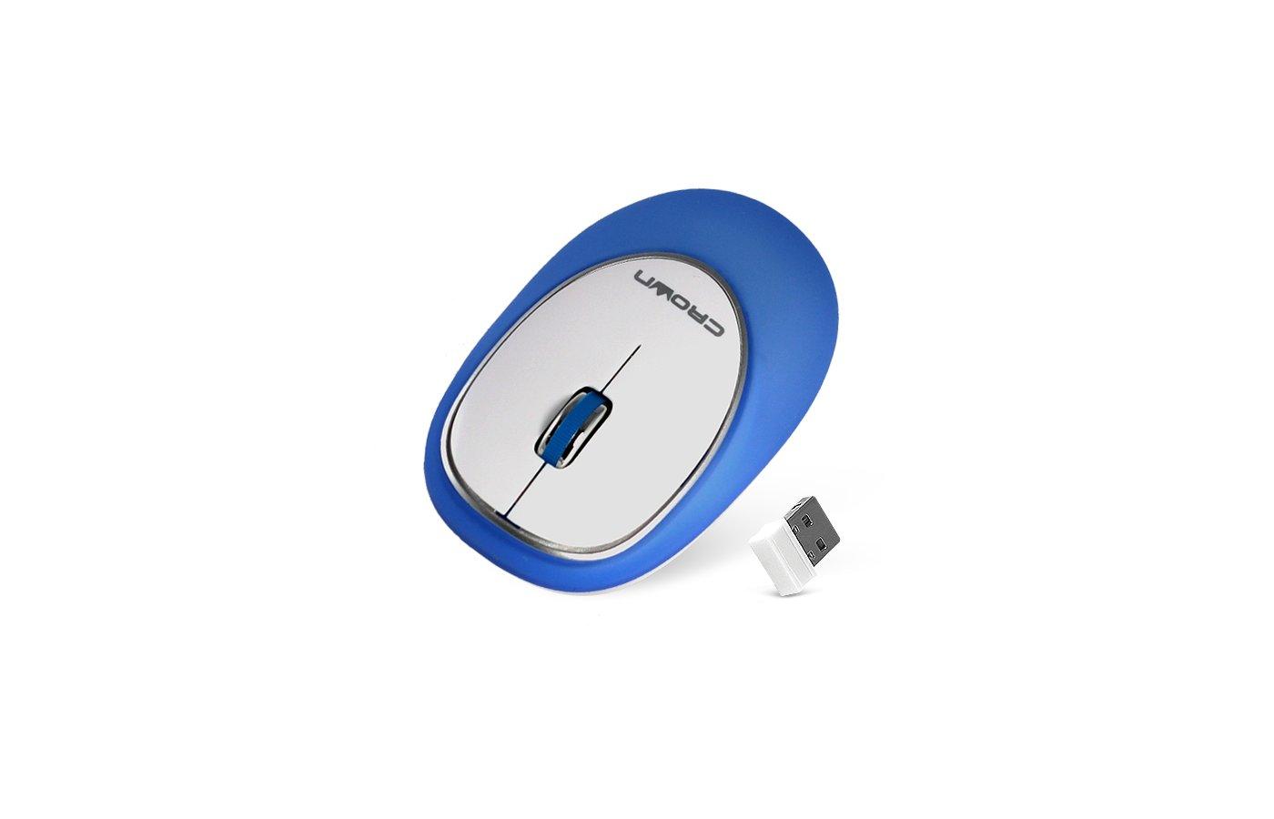 Мышь проводная CROWN CMM-931W blue