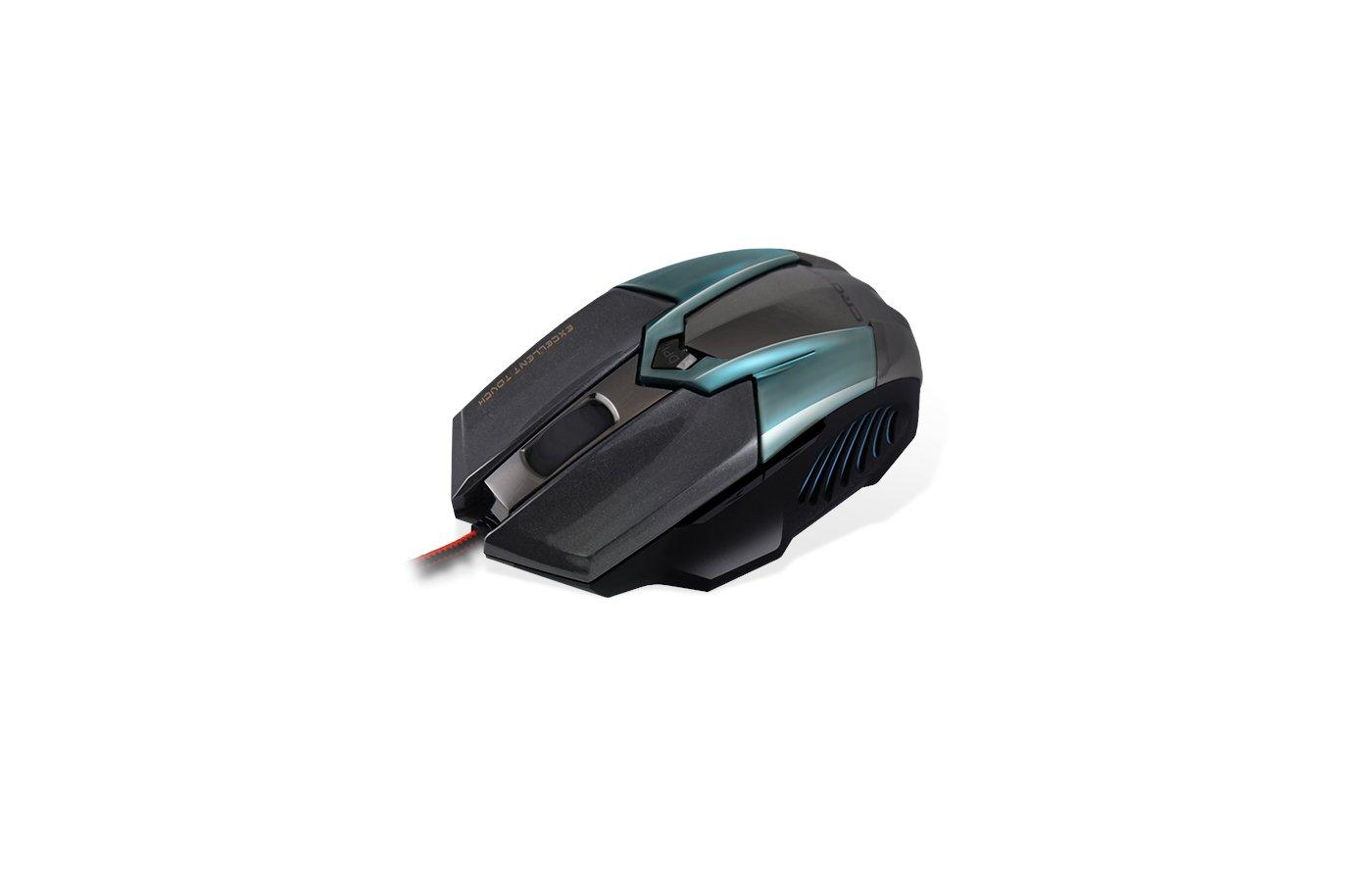 Мышь проводная CROWN Gaming CMXG-606 (Cyan metallic)