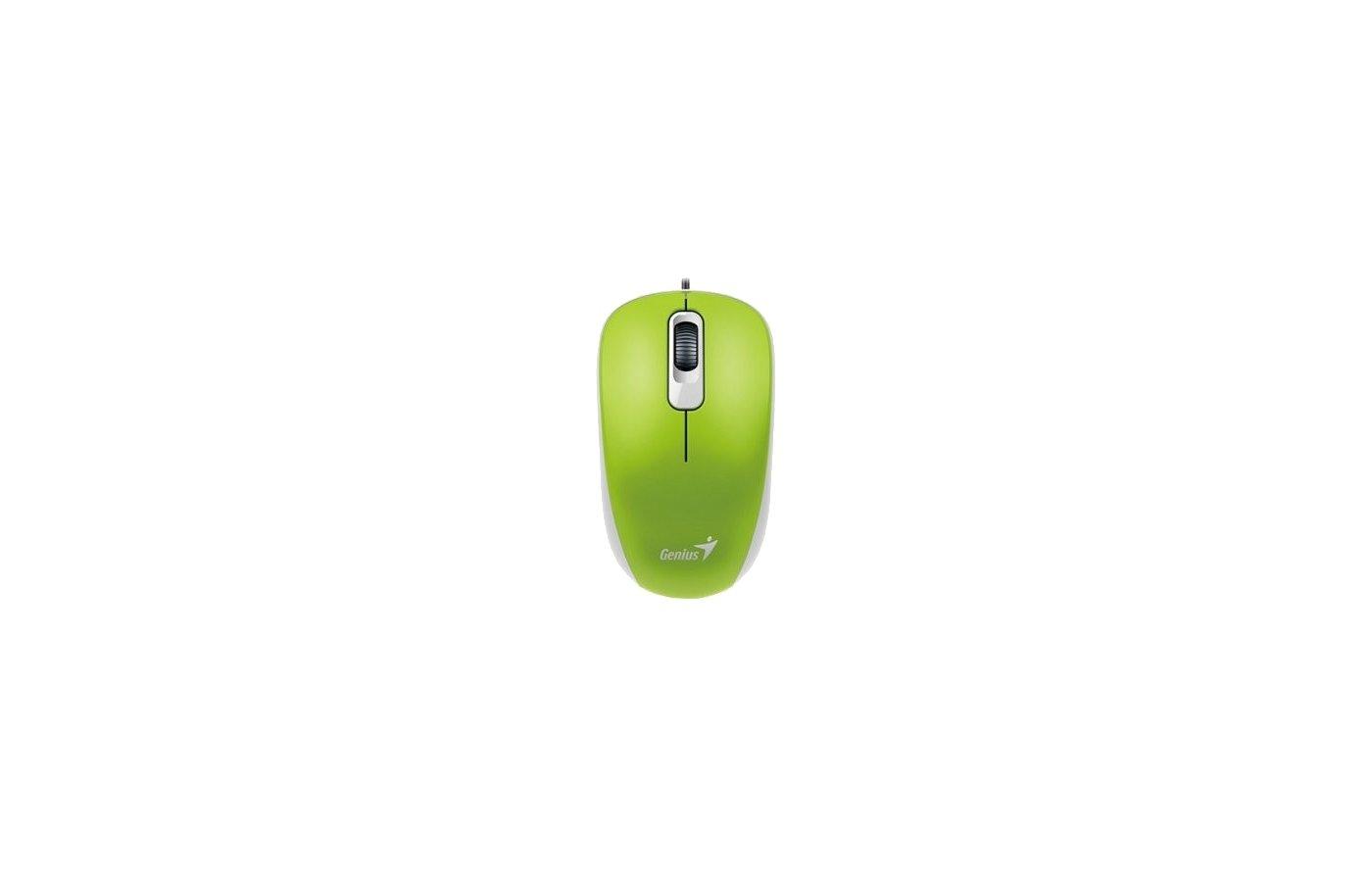 Мышь проводная Genius DX-110 Green USB