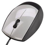 Мышь проводная Hama H-52388 черный/серебристый оптическая (800dpi) USB