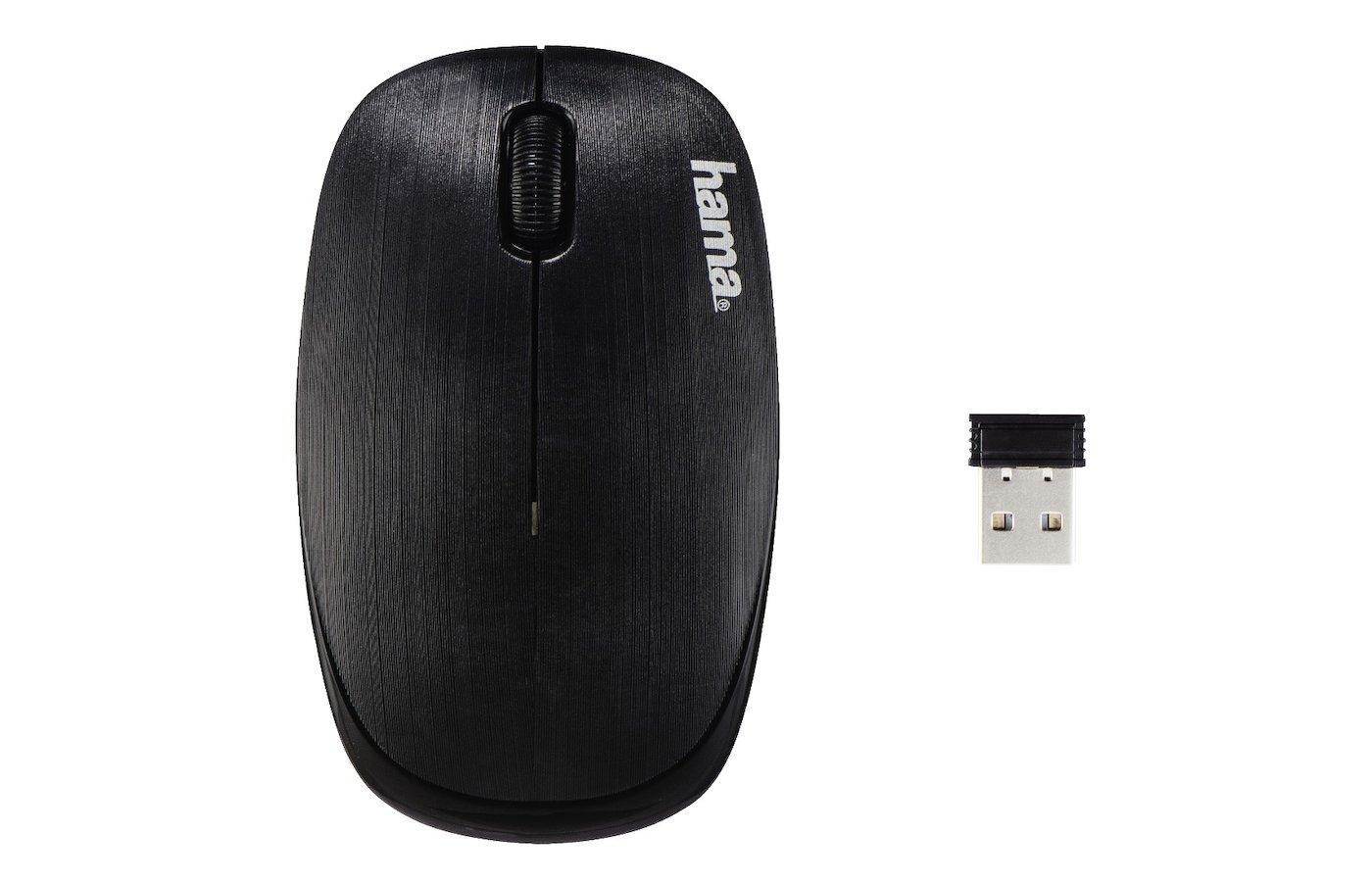 Мышь беспроводная Hama AM-8000 черный