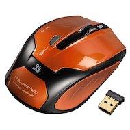 Мышь беспроводная Hama H-52390 оранжевый/черный оптическая (1600dpi) беспроводная USB