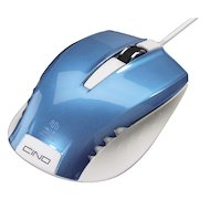 Мышь проводная Hama H-53867 голубой оптическая (800dpi) USB