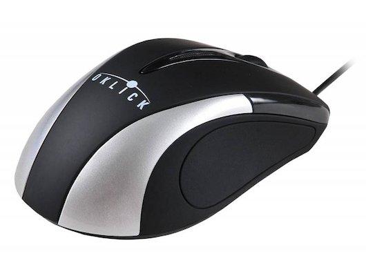 Мышь проводная Oklick 235M черный/серебристый