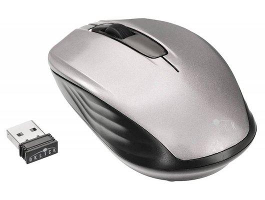 Мышь беспроводная Oklick 475MW черный/серый