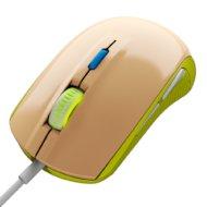Мышь проводная Steelseries Rival 100 Gaia зеленый/бежевый оптическая (4000dpi) USB игровая (5but)