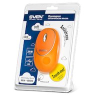 Фото Мышь проводная SVEN RX-555 Antistress Silent оранжевая