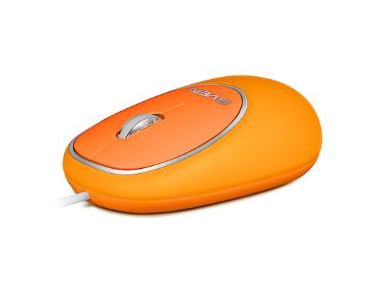 Мышь проводная SVEN RX-555 Antistress Silent оранжевая