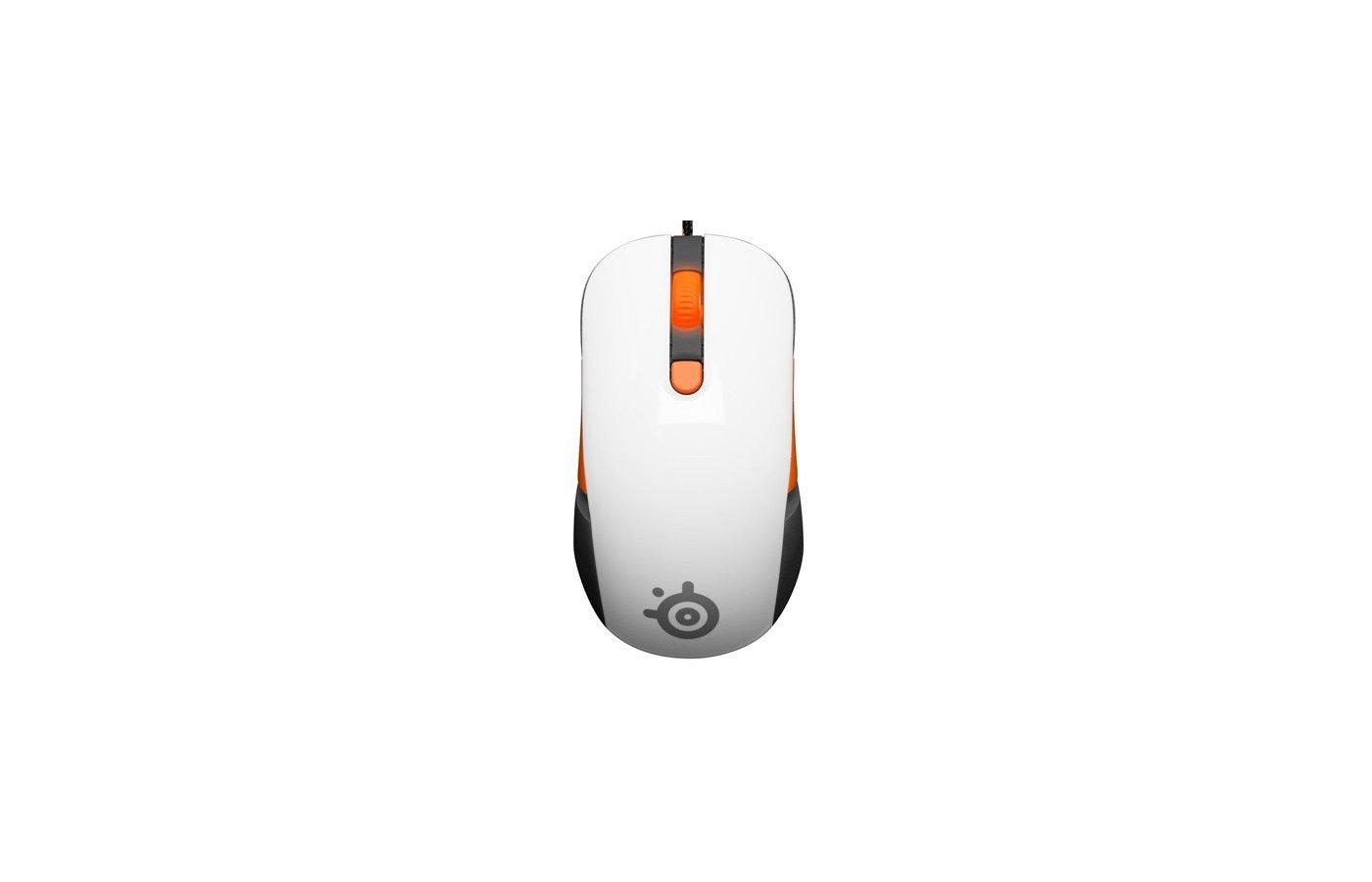 Мышь проводная Steelseries Kana v2 белый оптическая (6400dpi) USB игровая (5but)