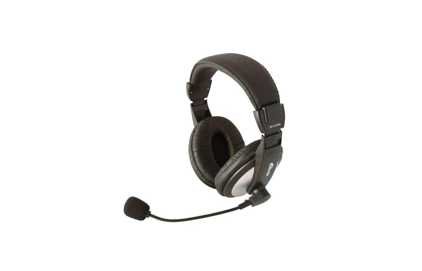 Наушники с микрофоном проводные Ritmix RH-514M накладные с микрофоном
